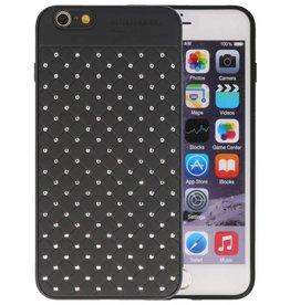 Witte Chique Hard Cases voor iPhone 6 Plus Zwart