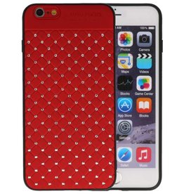 Witte Chique Hard Cases voor iPhone 6 Plus Rood