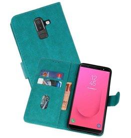 Samsung Galaxy J8 Hoesje Kaarthouder Book Case Telefoonhoesje Groen