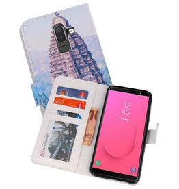 Temple Bookstyle Hoesje Samsung Galaxy J8