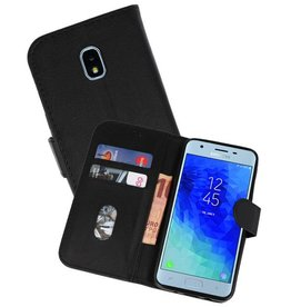 Bookstyle Wallet Cases Hoesje voor Galaxy J3 2018 Zwart
