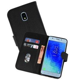 Samsung Galaxy J3 2018 Hoesje Kaarthouder Book Case Telefoonhoesje Zwart