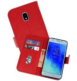 Samsung Galaxy J3 2018 Hoesje Kaarthouder Book Case Telefoonhoesje Rood