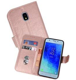 Samsung Galaxy J3 2018 Hoesje Kaarthouder Book Case Telefoonhoesje Roze