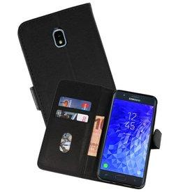 Samsung Galaxy J7 2018 Hoesje Kaarthouder Book Case Telefoonhoesje Zwart