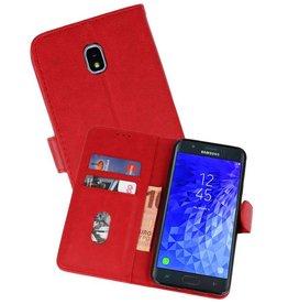 Samsung Galaxy J7 2018 Hoesje Kaarthouder Book Case Telefoonhoesje Rood