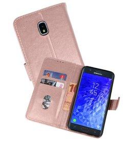 Samsung Galaxy J7 2018 Hoesje Kaarthouder Book Case Telefoonhoesje Roze