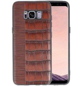 Croco Hard Case voor Samsung Galaxy S8 Donker Bruin