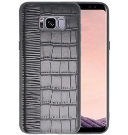 Croco Hard Case voor Samsung Galaxy S8 Plus Zwart