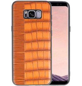 Croco Hard Case voor Samsung Galaxy S8 Plus Bruin