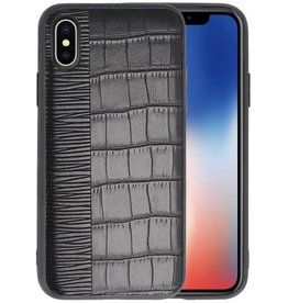 Croco Hard Case voor iPhone X Zwart