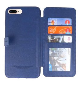 Back Cover Book Design Hoesje voor iPhone 8 Plus Blauw