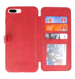 Back Cover Book Design Hoesje voor iPhone 8 Plus Rood