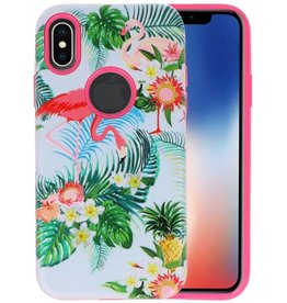 3D Print Hard Case voor iPhone X Flamingo