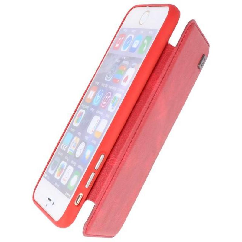Iphone 6 Plus Back Case Hoesje Book Design Rood
