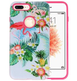 3D Print Hard Case voor iPhone 8 Plus Flamingo