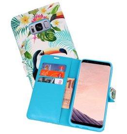 Bookstyle Hoesje voor Galaxy S8 Plus 3D Print Toekan