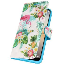 Bookstyle Hoesje voor Huawei P20 3D Print Flamingo