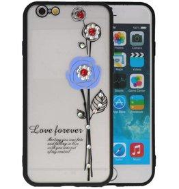 Love Forever Hoesjes voor iPhone 6 / 6s Blauw