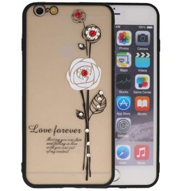 Love Forever Hoesjes voor iPhone 6 / 6s Plus Wit
