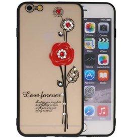 Love Forever Hoesjes voor iPhone 6 / 6s Plus Rood
