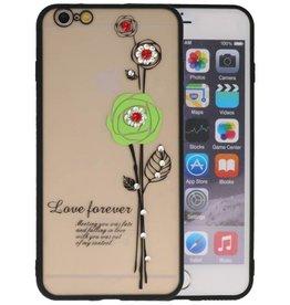 Love Forever Hoesjes voor iPhone 6 / 6s Plus Groen