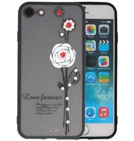 Love Forever Hoesjes voor iPhone 8 Wit