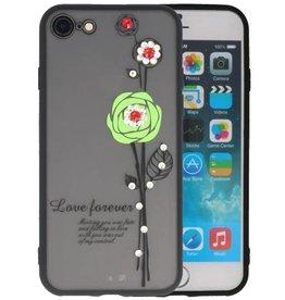 Love Forever Hoesjes voor iPhone 8 Groen