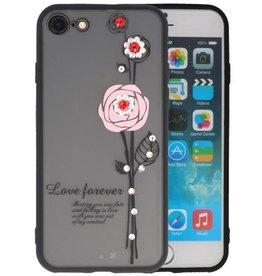 Love Forever Hoesjes voor iPhone 8 Roze