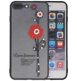 Love Forever Hoesjes voor iPhone 7 / 8 Plus Rood