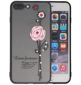 Love Forever Hoesjes voor iPhone 7 / 8 Plus Roze
