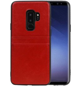 Back Cover 2 Pasjes Hoesje voor Galaxy S9 Plus Rood