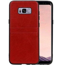 Back Cover 2 Pasjes Hoesje voor Galaxy S8 Plus Rood