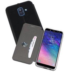 Slim Folio Case voor Galaxy A6 2018 Zwart