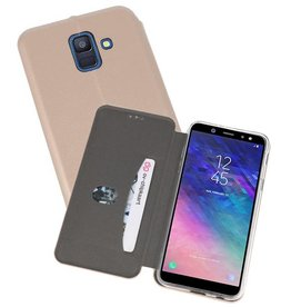 Slim Folio Case voor Galaxy A6 2018 Goud