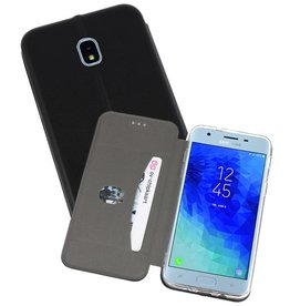 Slim Folio Case voor Galaxy J3 2018 Zwart