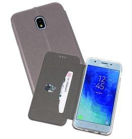 Slim Folio Case voor Galaxy J3 2018 Grijs
