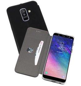 Slim Folio Case voor Galaxy A6 Plus 2018 Zwart