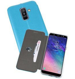 Slim Folio Case voor Galaxy A6 Plus 2018 Blauw