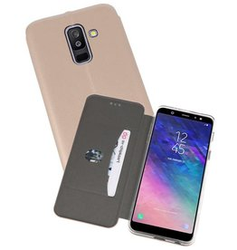 Slim Folio Case voor Galaxy A6 Plus 2018 Goud