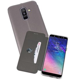 Slim Folio Case voor Galaxy A6 Plus 2018 Grijs