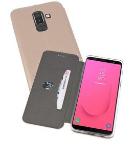 Slim Folio Case voor Galaxy J8 2018 Goud