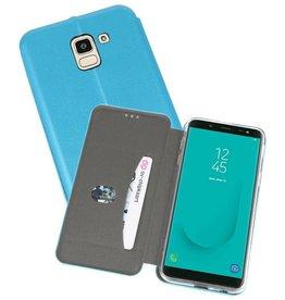Slim Folio Case voor Galaxy J6 Blauw