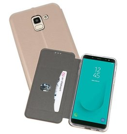 Slim Folio Case voor Galaxy J6 Goud