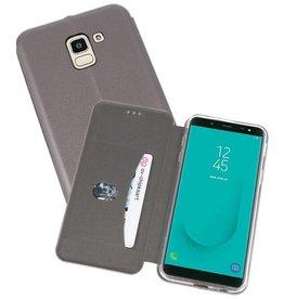Slim Folio Case voor Galaxy J6 Grijs