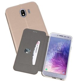 Slim Folio Case voor Galaxy J4 Goud
