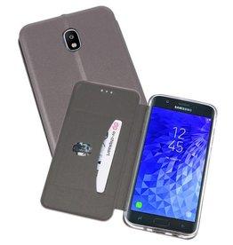 Slim Folio Case voor Galaxy J7 2018 Grijs
