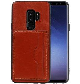 Staand Back Cover 2 Pasjes voor Galaxy S9 Plus Bruin