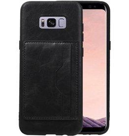 Staand Back Cover 2 Pasjes voor Galaxy S8 Plus Zwart
