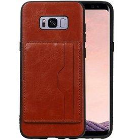 Staand Back Cover 2 Pasjes voor Galaxy S8 Plus Bruin